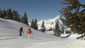 Berg und See in Eis und Schnee - Winteridylle in Österreich