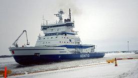 Reisewege: Eisbrecher vor Finnland