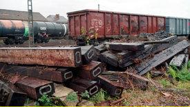 Lahm und rostig - die Bahnfracht
