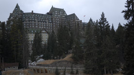 Ein Schloss in den Rocky Mountains