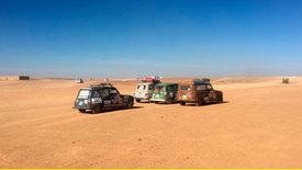 Mit dem R4 durch die Wüste