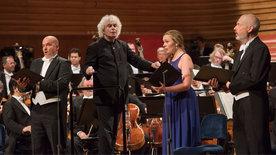 Simon Rattle dirigiert die Berliner Philharmoniker<br/>in Luzern 2017